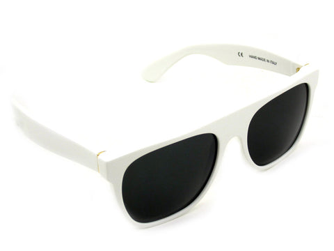 Super Sunglasses Flat Top White RetroSuperFuture 035