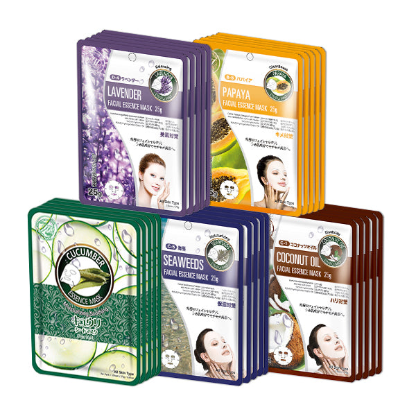 MITOMO Trial Set Hydration Care Face Mask Sheet: 5types*5pcs=25packs