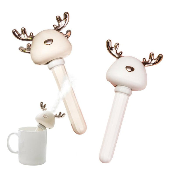 [MPEA00009] MEIPENG Deer's horn humidifier USB bottle cap plug in portable ins Xiaomeng home office water bottle humidifier