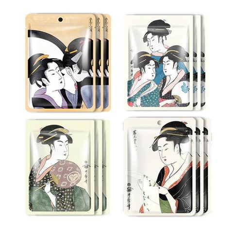 MITOMO JP UKIYOE trial set Type C Face Mask Sheet: 4types 12packs
