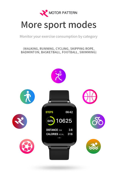 [MPEA00005] MEIPENG Quick selling popular B57 color screen smart Bracelet 1.3 inch large screen blood pressure heart rate multi exercise mode waterproof Bracelet