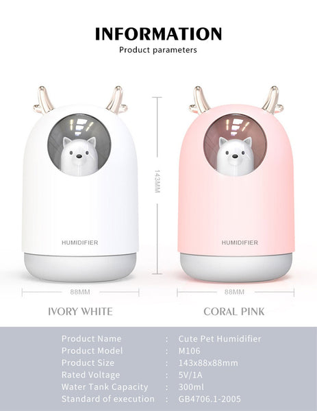 [MPEA00007] MEIPENG Creative adorable USB Mini humidifier home bedroom mute Mini desktop gift air spray