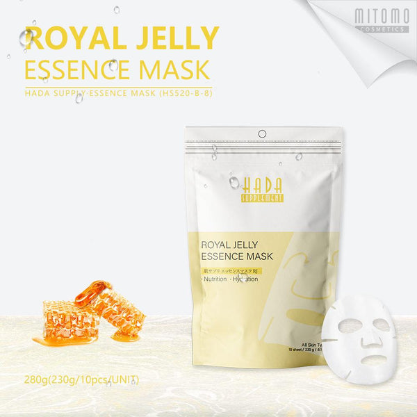 [HS520-B-8] Hada Supply Royal Jelly  Essence Mask (10pcs/Unit)
