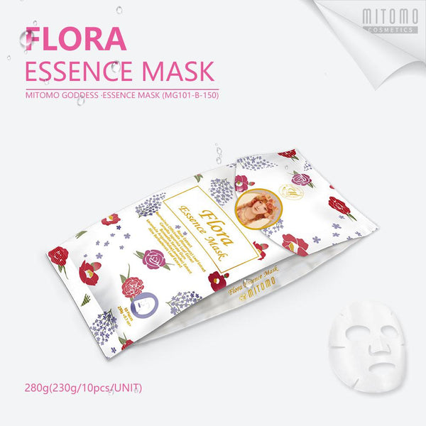 [MG101-B-150] MITOMO Goddess Flora  Essence Mask (10pcs/Unit)