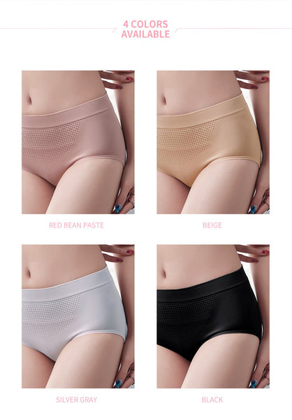 [MPFA00030] MEIPENG Explosive mid-waist warm palace honeycomb panties women's cotton crotch, abdomen, buttocks, honeycomb seamless women's briefs