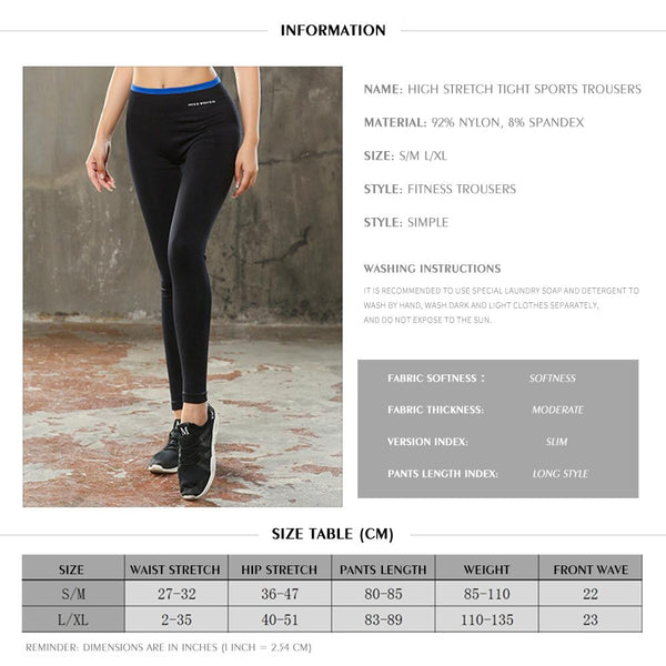 [MPFA00031] MEIPENG New autumn/winter tights with small trousers and high elastic sports trousers women's color matching running yoga fitness trousers casual pants