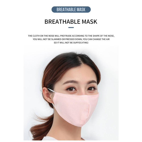 [MPHA00001] MEIPENG Ice Silk Face Mask for Men and Women in Summer Sunscreen UV Proof Breathable Mask