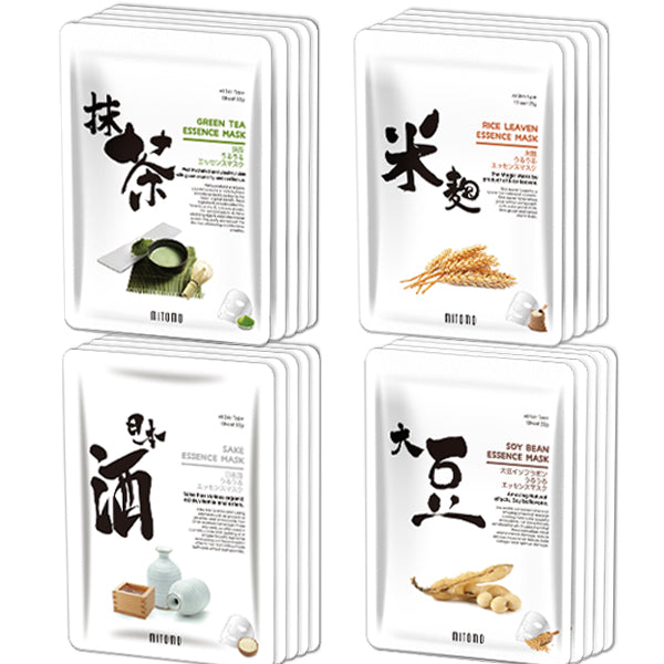 MITOMO Lucky Box Face Mask Sheets Uruuru Series 4types*5pcs=20packs/EUGS004020