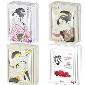 MITOMO Lucky Box Face Mask Sheets JP Series 4types*5pcs=20packs/EUGS002020