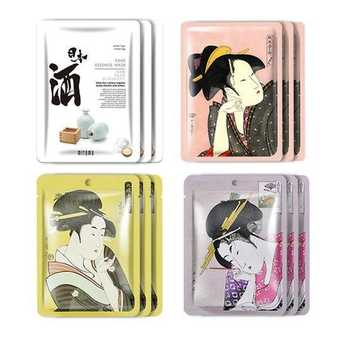 MITOMO JP UKIYOE trial set Type H Face Mask Sheet: 4types 12packs