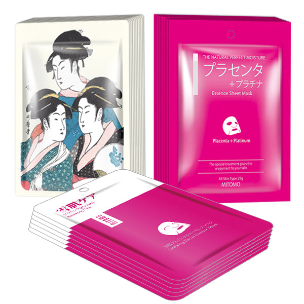 MITOMO Cherry Blossom Pink Edition Gold&Placenta: 3types 26packs