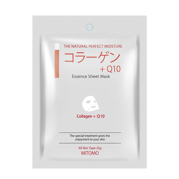 MITOMO Collagen + Q10 Elasticity Facial Essence Mask MC001-A-1