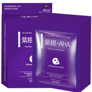 MITOMO Lithospermum + AHA Pore Control Facial Essence Mask MC001-A-2