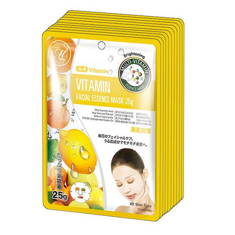 MITOMO Natural Vitamin Brightening Facial Essence Mask MT512-A-4