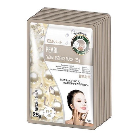 MITOMO Natural Pearl Brightening Facial Essence Mask MT512-B-1
