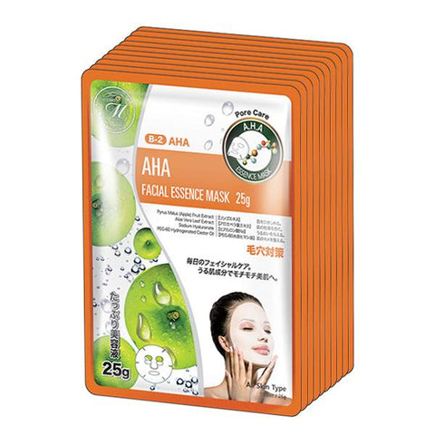 MITOMO Natural AHA Pore Care Facial Essence Mask MT512-B-2