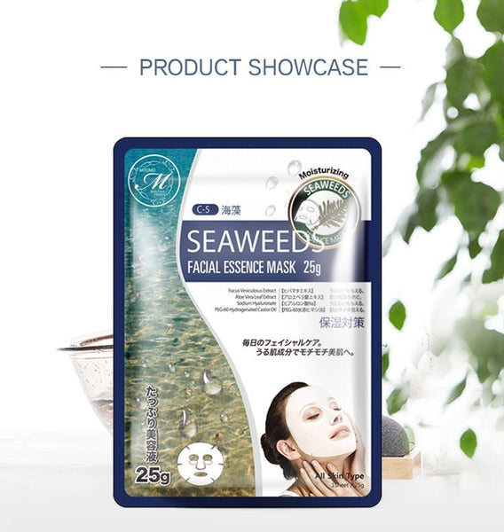 MITOMO Natural Seaweed Purifying Facial Essence Mask MT512-C-5