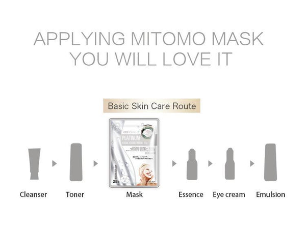 MITOMO Natural Platinum Nutrition Facial Essence Mask MT512-E-5