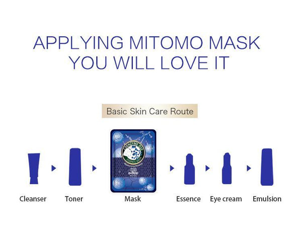 MITOMO Natural Q10 Moisturizing Vibrancy Facial Essence Mask MT612-A-5