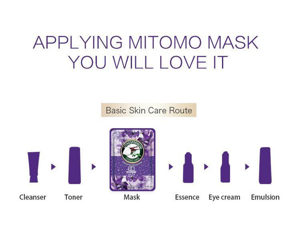MITOMO Natural Lithospermum Cleanliness Moisturizing Facial Essence Mask MT612-B-2