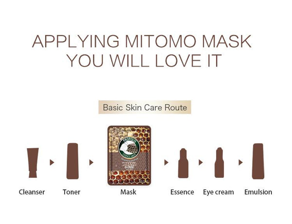 MITOMO Natural Propolis Cleaning Soothing Facial Essence Mask MT612-B-9