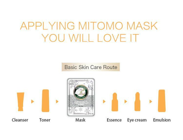 MITOMO Natural Hyaluronic Acid Moisturizing Facial Essence Mask MT612-C-4