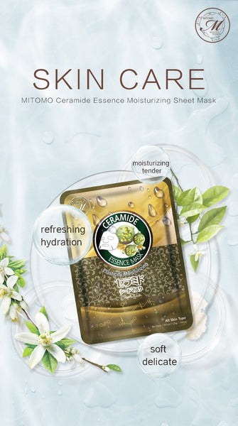 MITOMO Natural Ceramide Elasticity Moisturizing Facial Essence Mask MT612-D-2