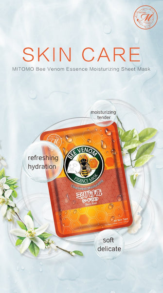 MITOMO Natural Bee Venom Cleanliness Moisturizing Facial Essence Mask MT612-E-1