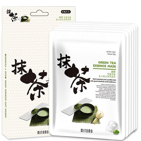 MITOMO Green Tea Facial Essence Mask JP512-C-0