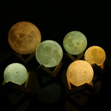Load image into Gallery viewer, Color Changing 3D Moon Lamp - 2 Colors
