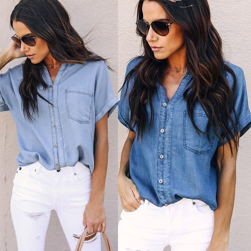 AVERY Chambray Button Down Shirt