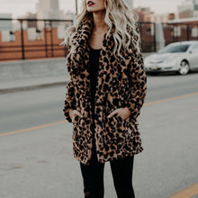 Load image into Gallery viewer, NALA Leopard Faux Fur Coat