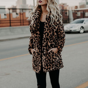 NALA Leopard Faux Fur Coat