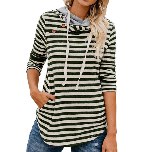 DEXTER Striped Button Sweatshirt