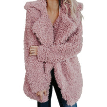 Load image into Gallery viewer, RILEY Faux Fur Lapel Coat