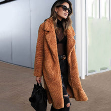 Load image into Gallery viewer, MISTY Long Faux Fur Teddy Coat