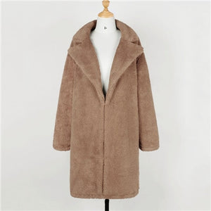 MISTY Long Faux Fur Teddy Coat