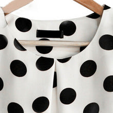 Load image into Gallery viewer, FREYA Polka Dot Ruffle Sleeve Top