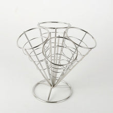 Load image into Gallery viewer, Stainless Steel Cone Snack Basket