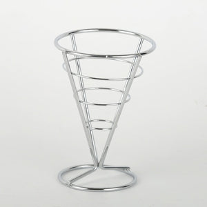 Stainless Steel Cone Snack Basket