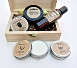 Men's Beard Grooming Gift Set in Wood Box