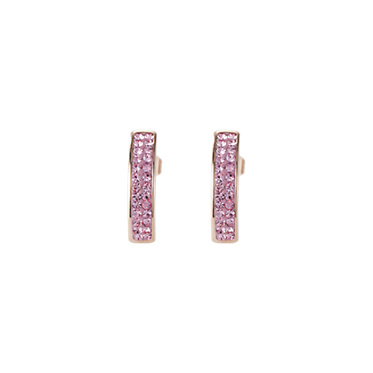Coeur de Lion Pink Pave Earrings 0214211920