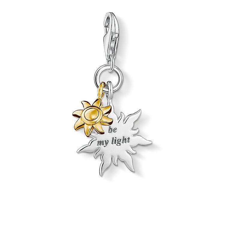 Thomas Sabo Sun be my Light Silver Charm Pendant 1347-413-12