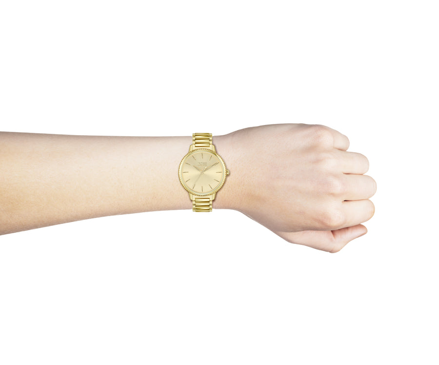 Hugo Boss Signature Gold Tone Ladies Watch 1502541