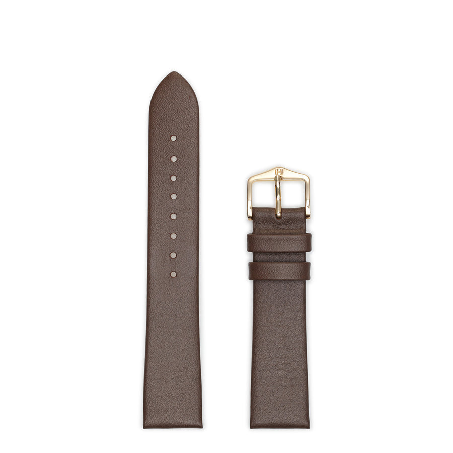 Hirsch Italocalf Large Brown Leather Watch Strap 17822010