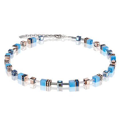 Coeur de Lion GeoCUBE® Necklace blue 4016100700