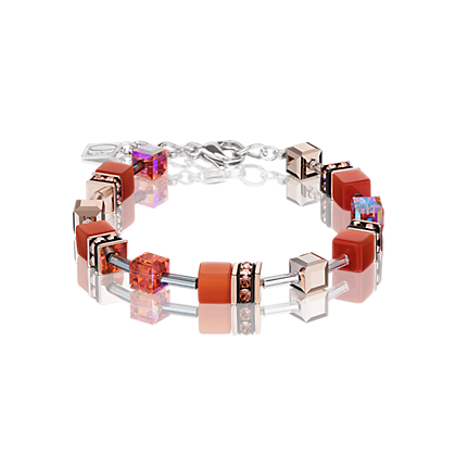Coeur de Lion GeoCube Bright Orange Bracelet 4016300221