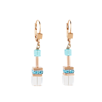 Coeur de Lion GeoCUBE® Earrings multicolour-crystal 4022201500