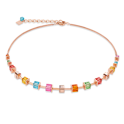Coeur de Lion Necklace Swarovski® Crystals & stainless steel rose gold multicolour 4996101500
