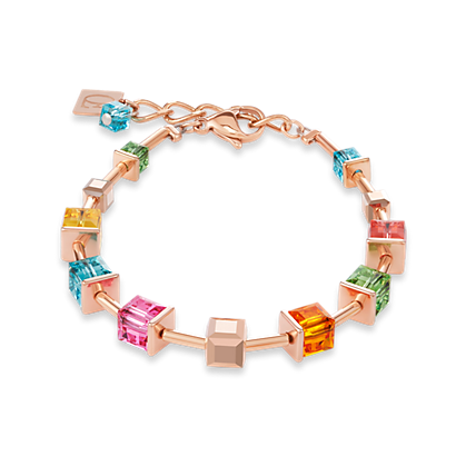 Coeur de Lion Bracelet Swarovski® Crystals & stainless steel rose gold multicolour 4996301500